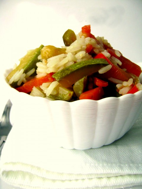 riso basmati verdure saltate salsa soia