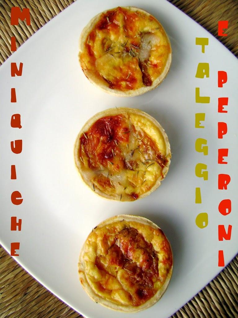 Miniquiches taleggio e peperoni