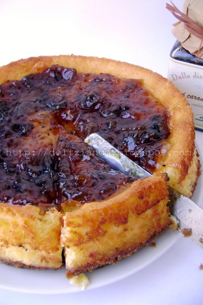 Cheesecake con yocca&kiwi caramellati