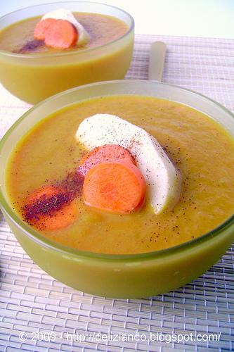 Zuppa di carote speziata