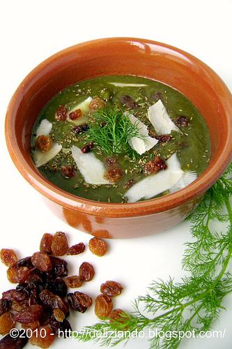 Crema di finocchi e spinaci detox