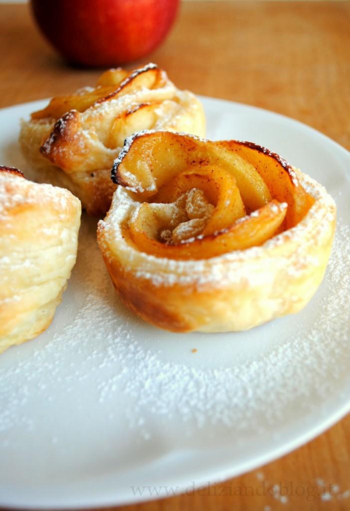 Roselline di mele pasta sfoglia