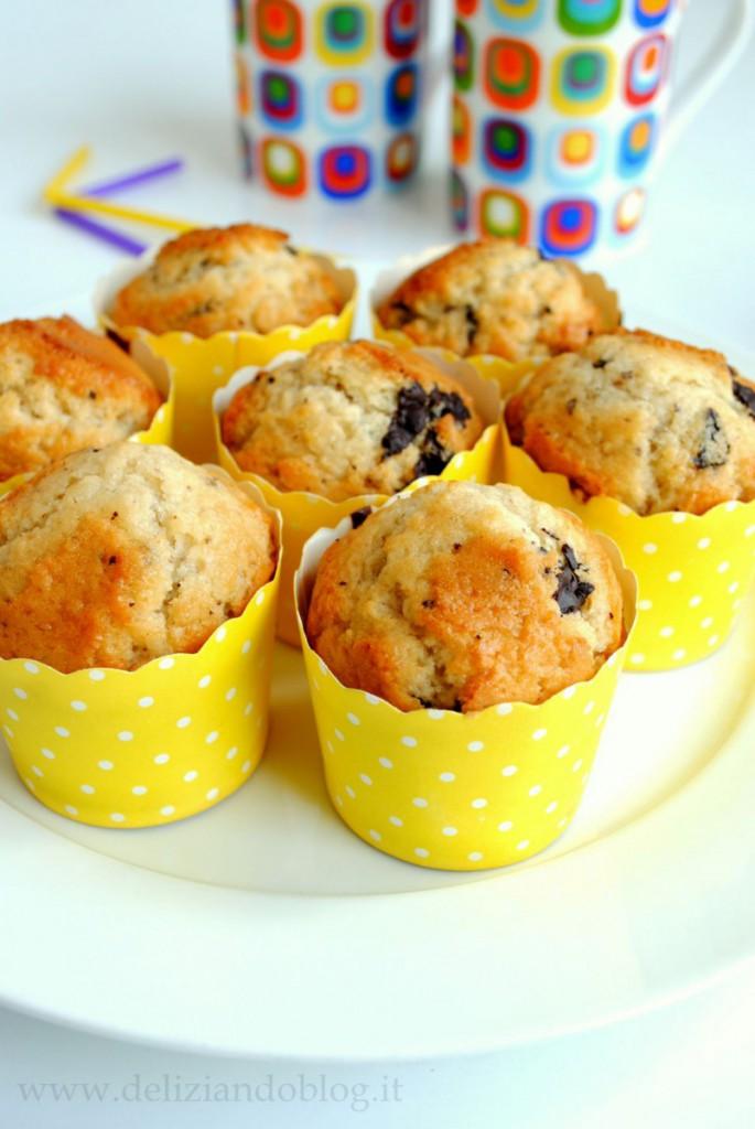 Muffin con gocce di cioccolato e yogurt