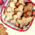 Omini di pan di zenzero gingerbread biscotti Natale regalare
