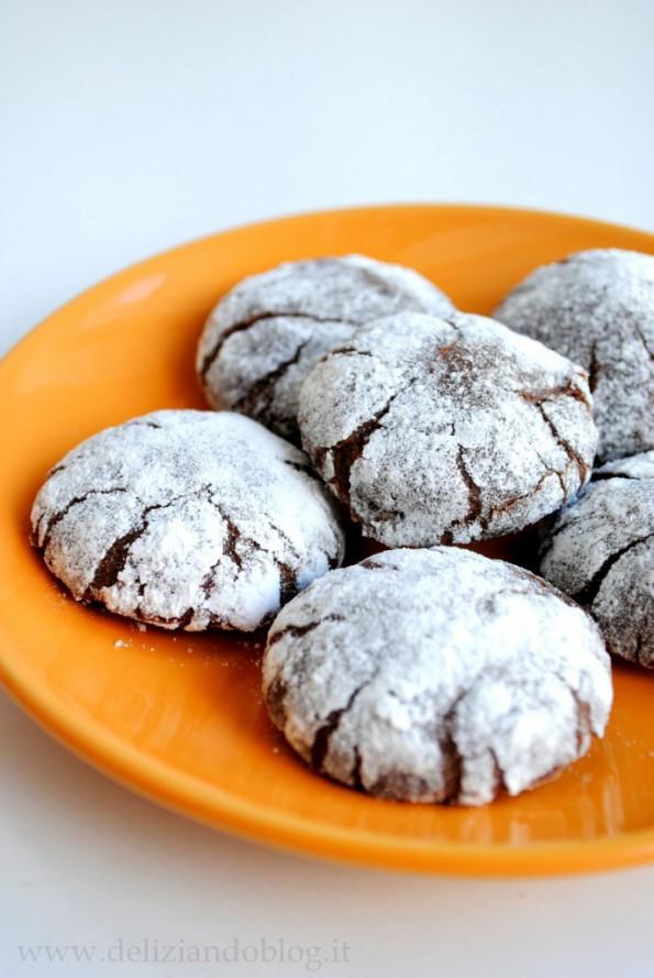 Chocolate crinkles cookies ricetta originale