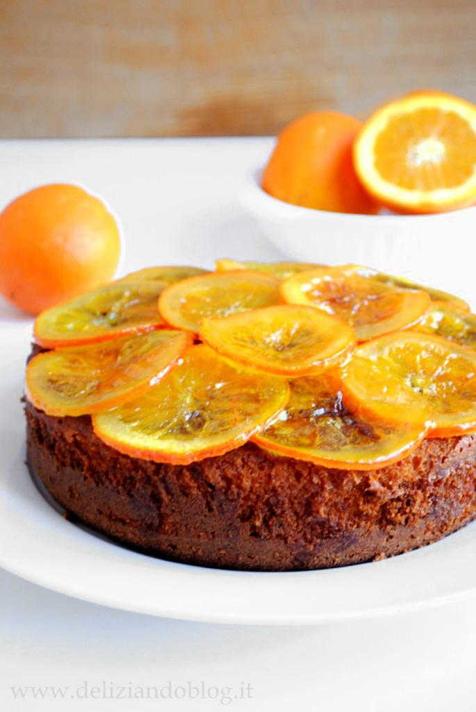 Torta al cioccolato e arancia caramellata