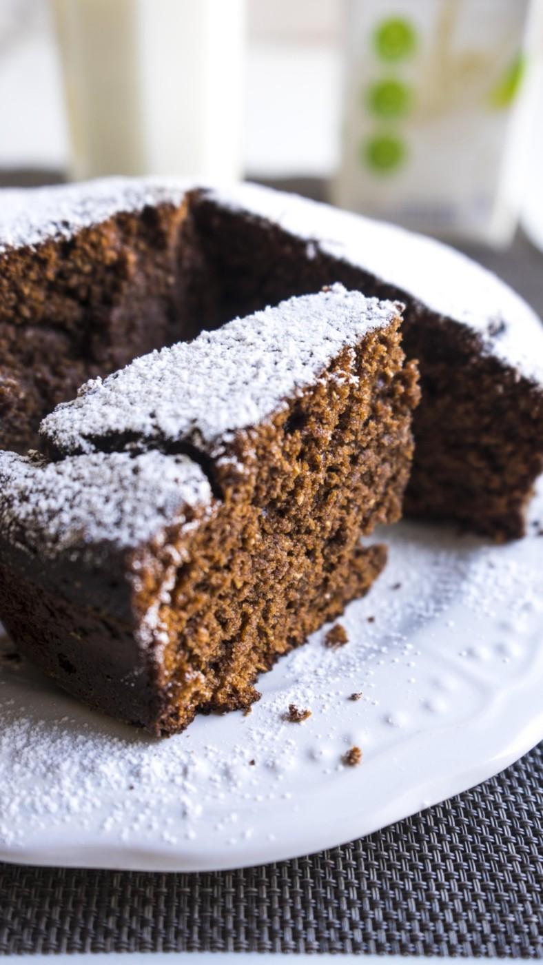 Torta al cioccolato fondente senza uova