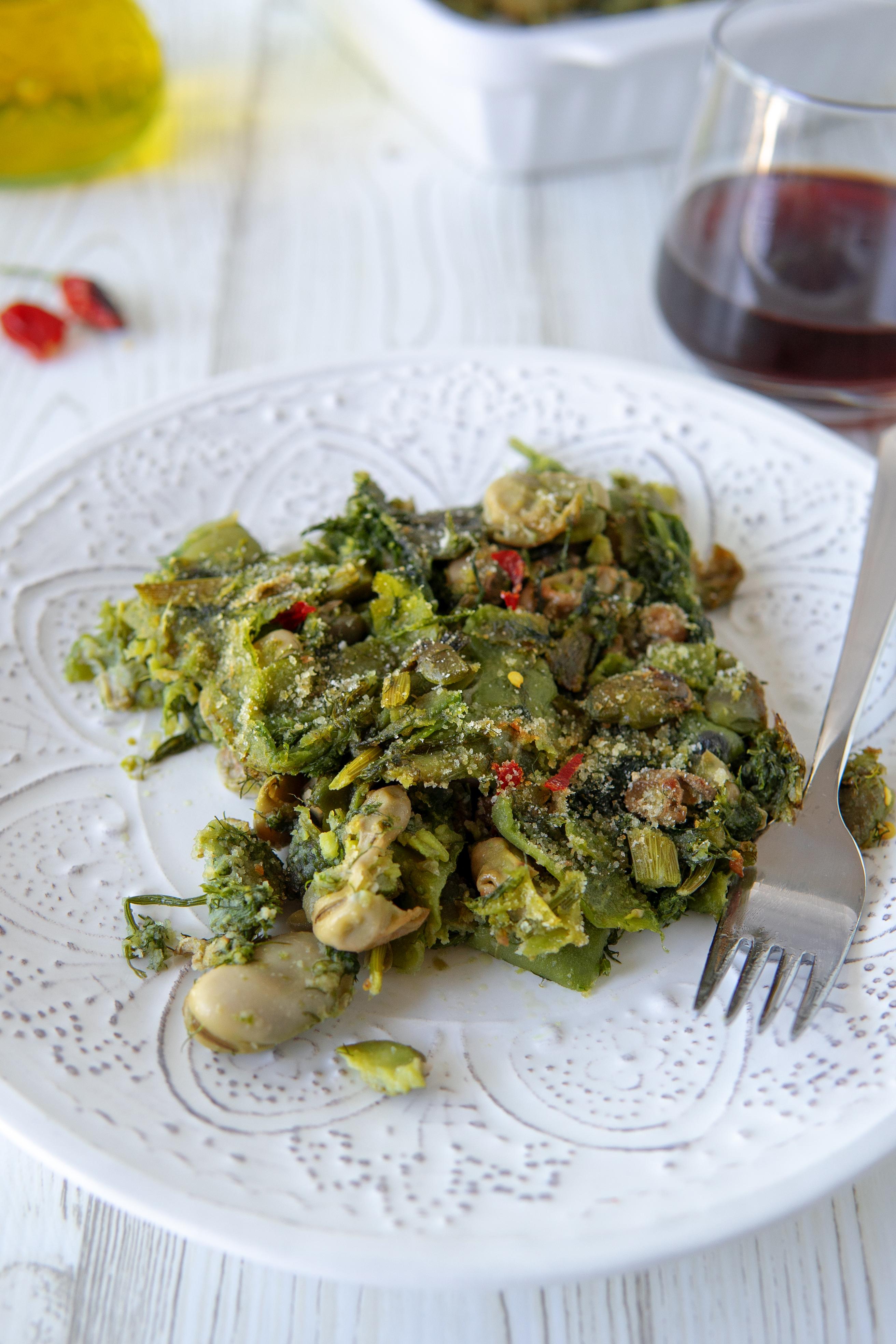Fave fresche con buccia e mollica, ricetta siciliana