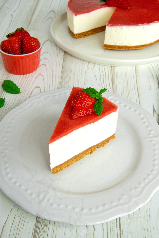 Cheesecake alle fragole senza cottura, la ricetta facile