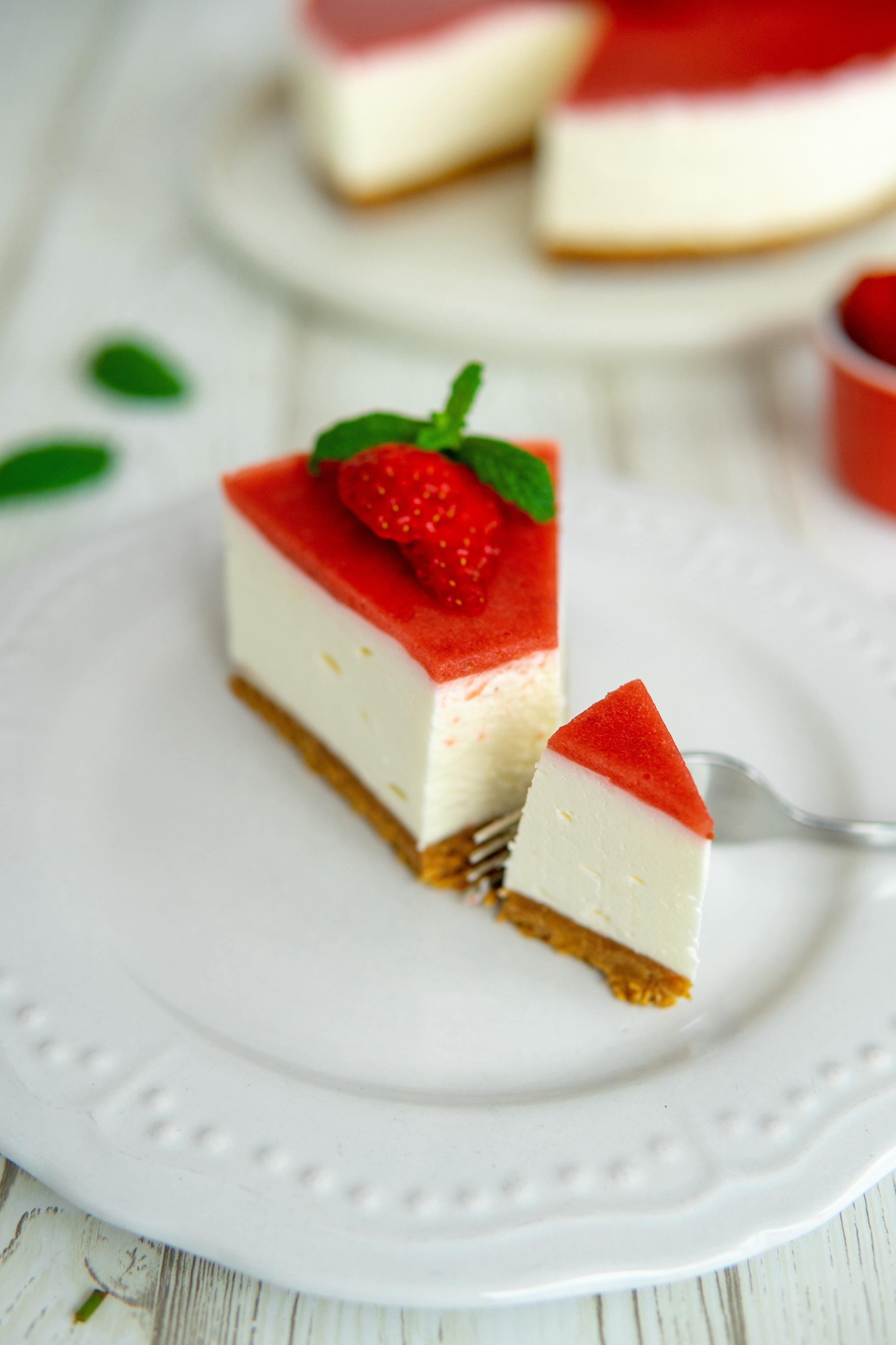 cheesecake fragole senza cottura