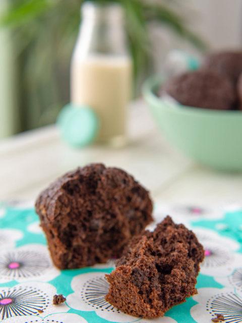 muffin integrali al cioccolato vegan